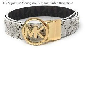 New Mk Signature Monogram Belt Reversible ✨